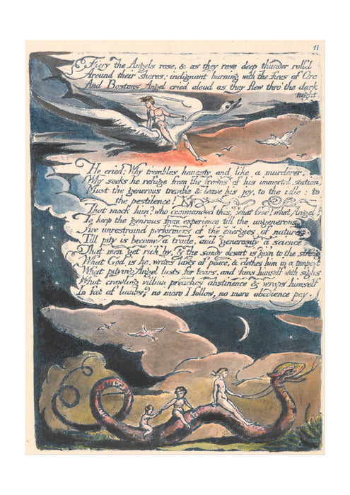 William Blake - Fiery the Angels Rose
