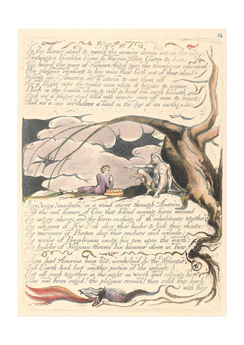 William Blake - In the Flames Stood