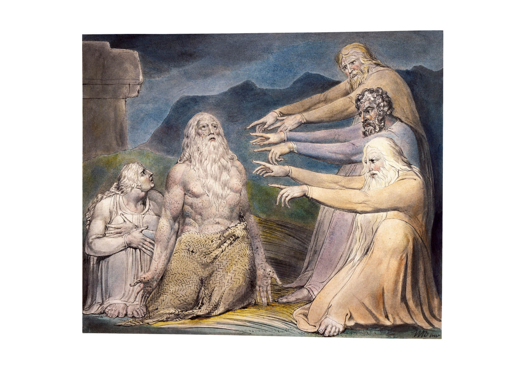 William Blake - Job Rebuked by His Friends