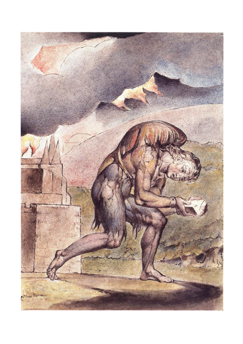 William Blake - John Bunyan Cristian Reading in His Book