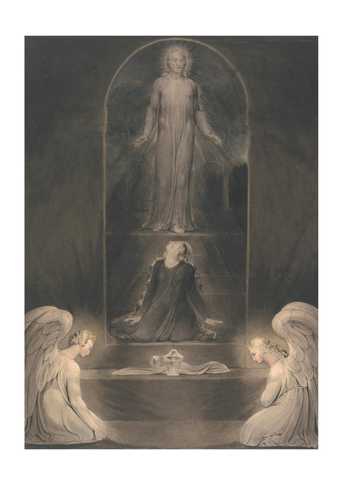 William Blake - Mary Magdalen at the Sepulchre