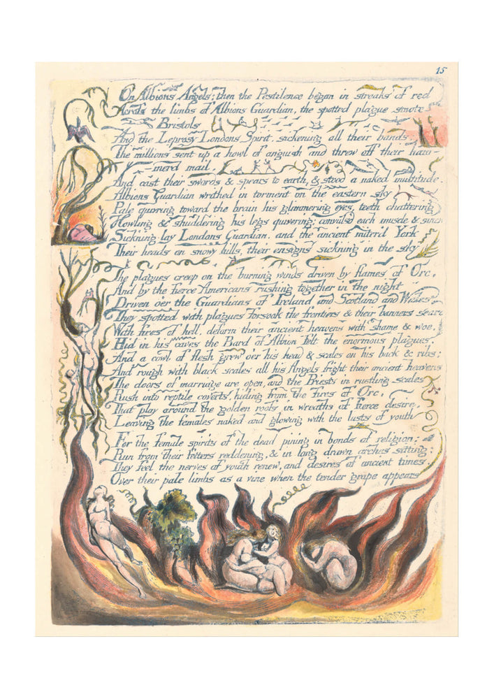 William Blake - On Albions Angels