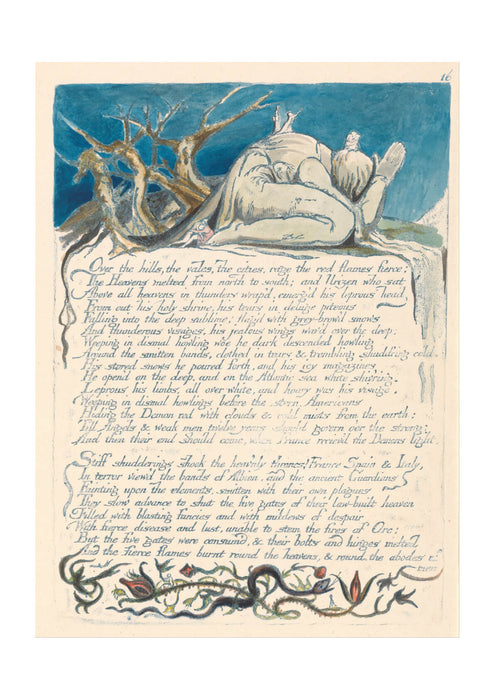 William Blake - Over the Hills