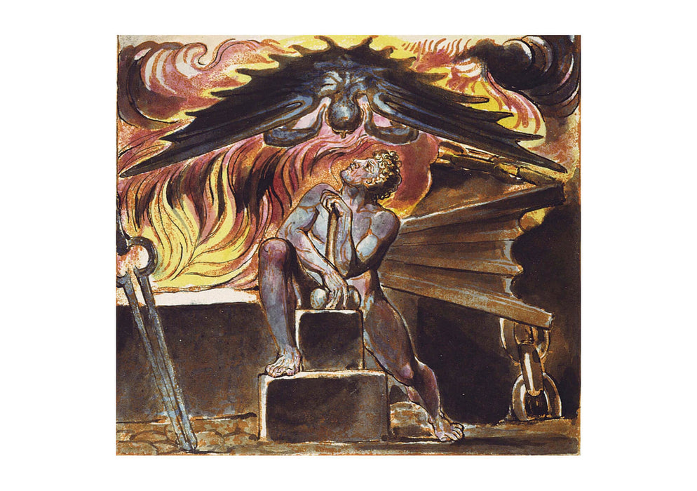 William Blake - Spectre over Los