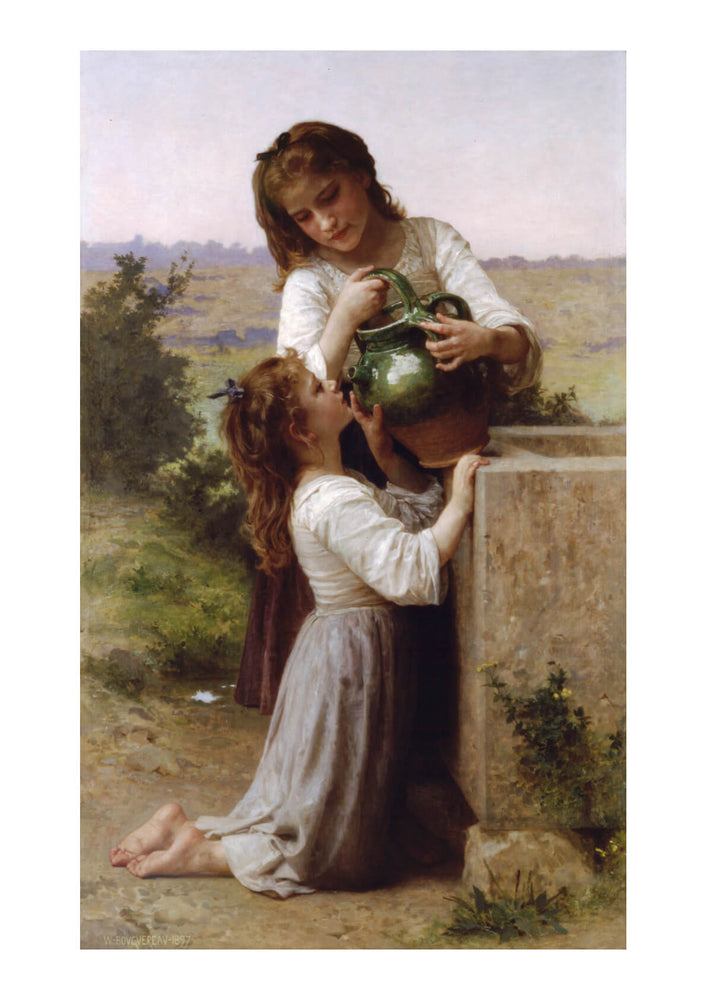 William Bouguereau - At The Fountain (1897)
