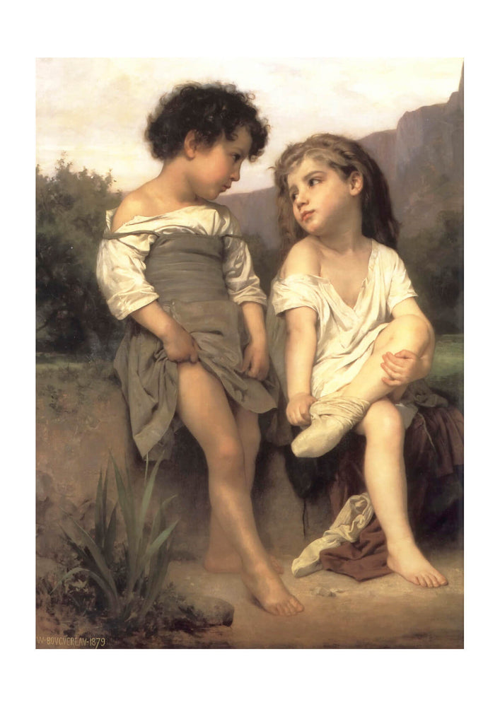 William Bouguereau - At the Edge of the Brook (1879)