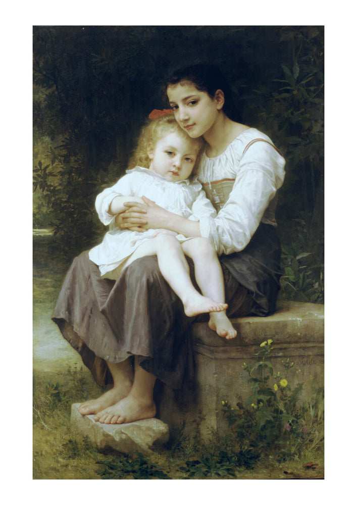 William Bouguereau - Big Sis (1886)