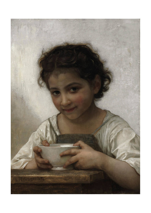 William Bouguereau - La soupe au lait (1880)