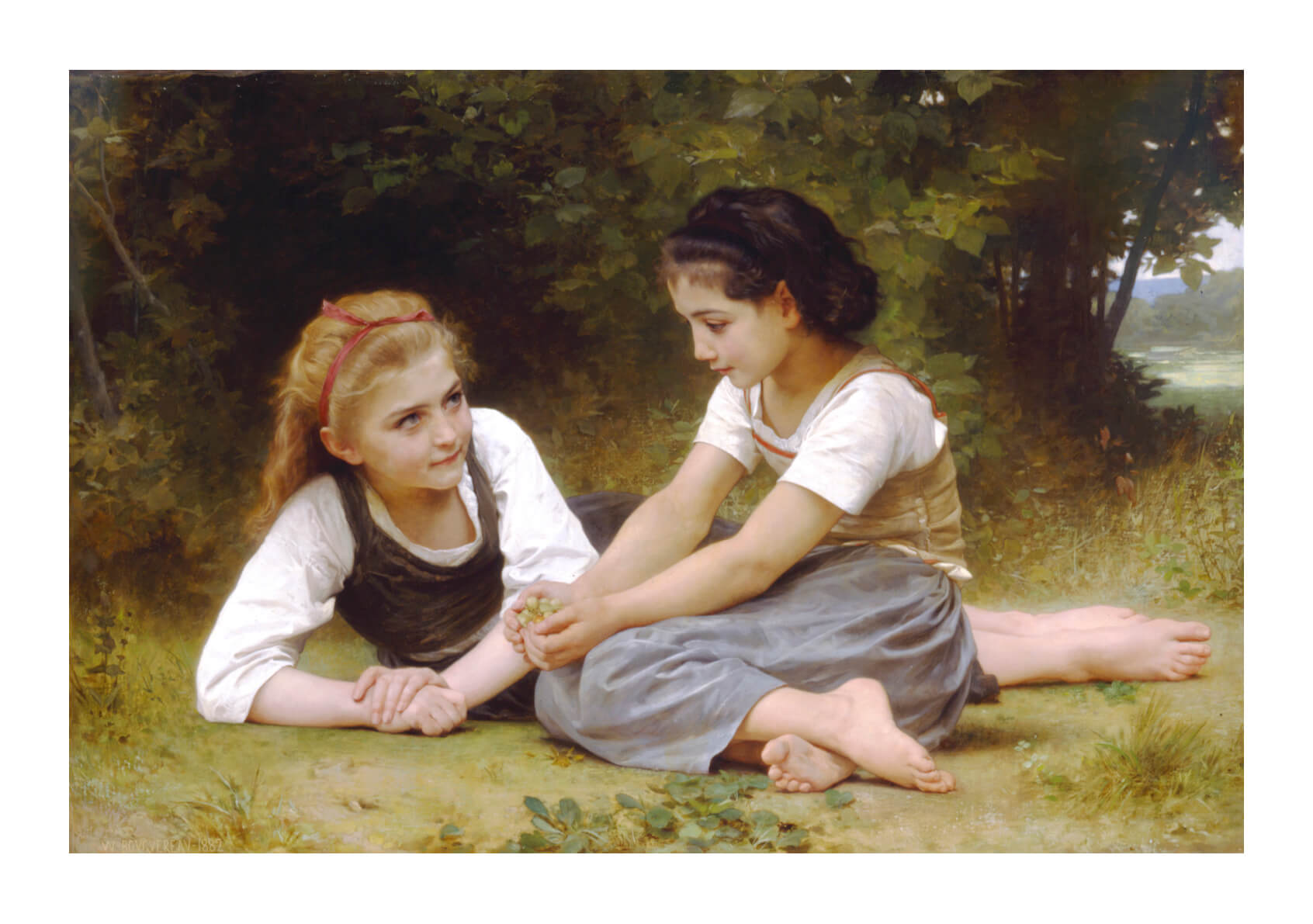 William Bouguereau - The Nut Gatherers (1882)