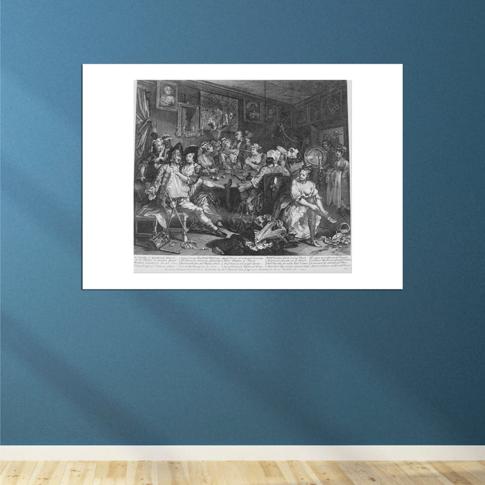William Hogarth - A Rake's Progress Plate 3 The Tavern Scene