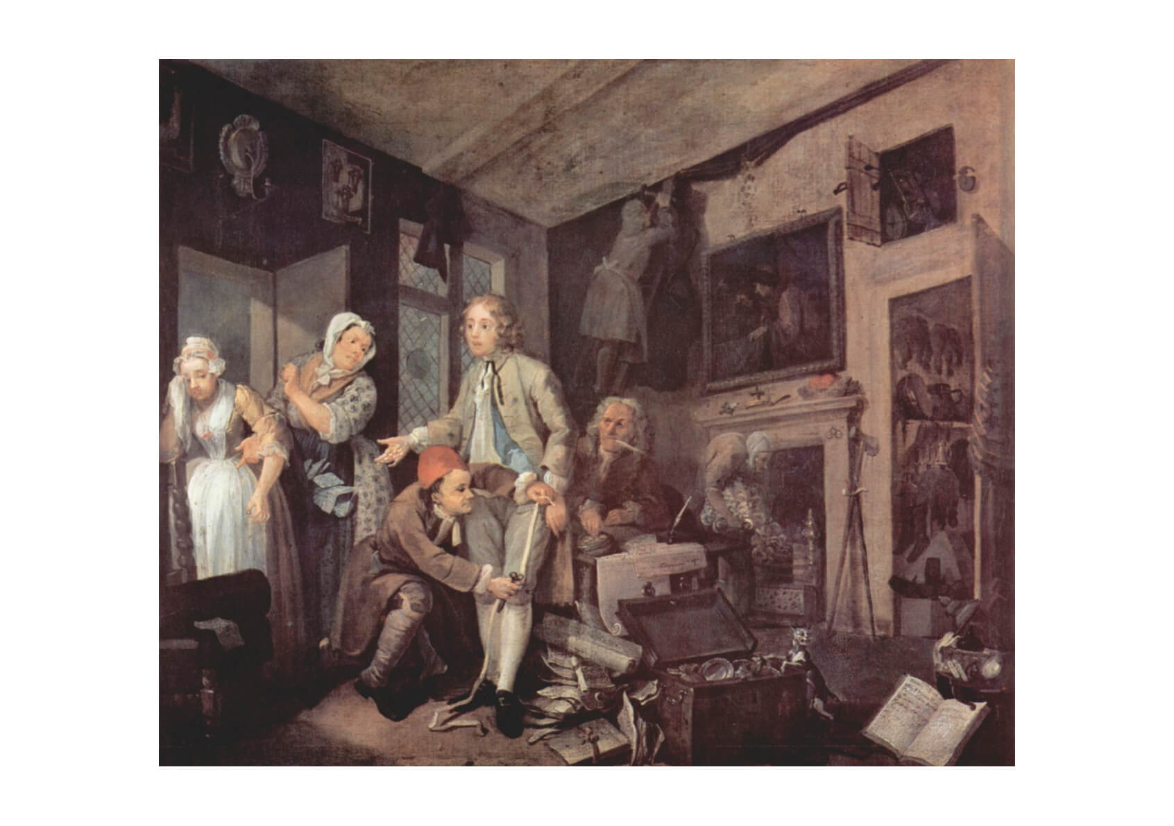 William Hogarth - Cluttered Room