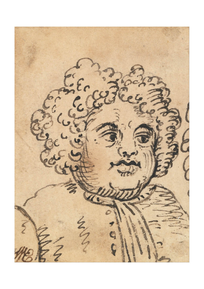 William Hogarth - Grotesque Male Head 4