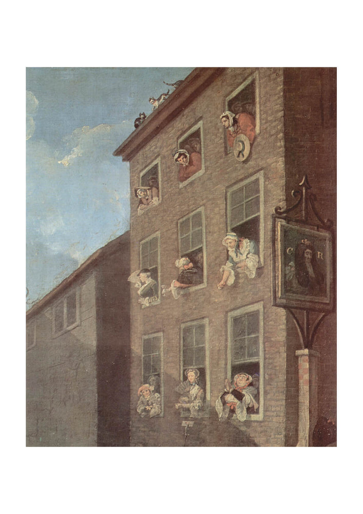 William Hogarth - Looking out Windows