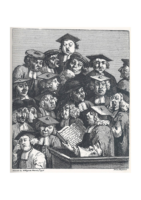 William Hogarth - Studenten bei der Vorlesung