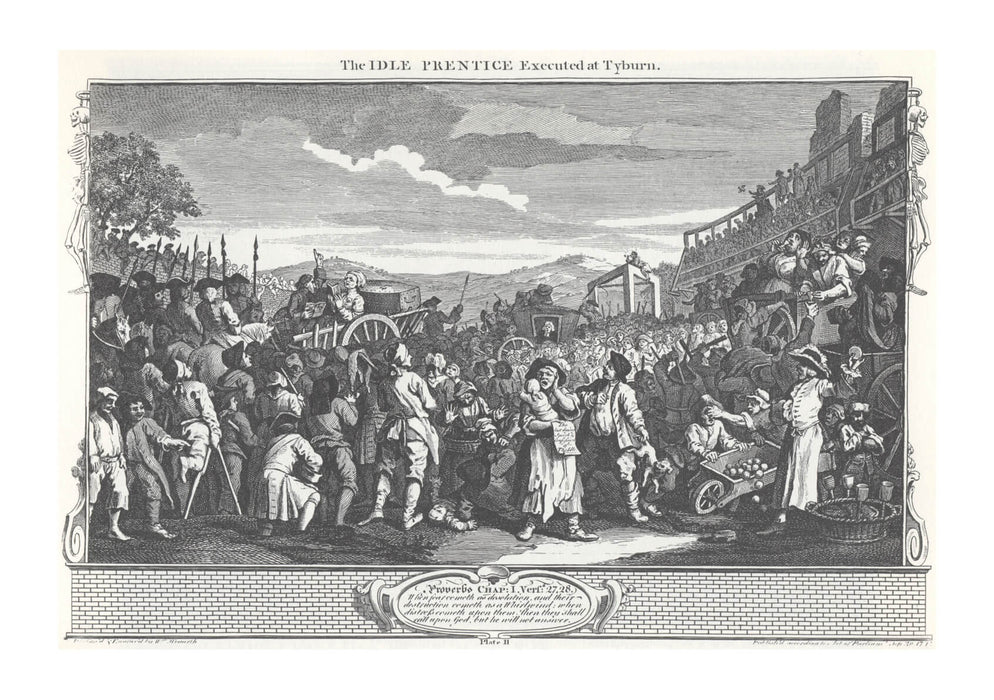 William Hogarth - The Idle 'Prentice Executed at Tyburn