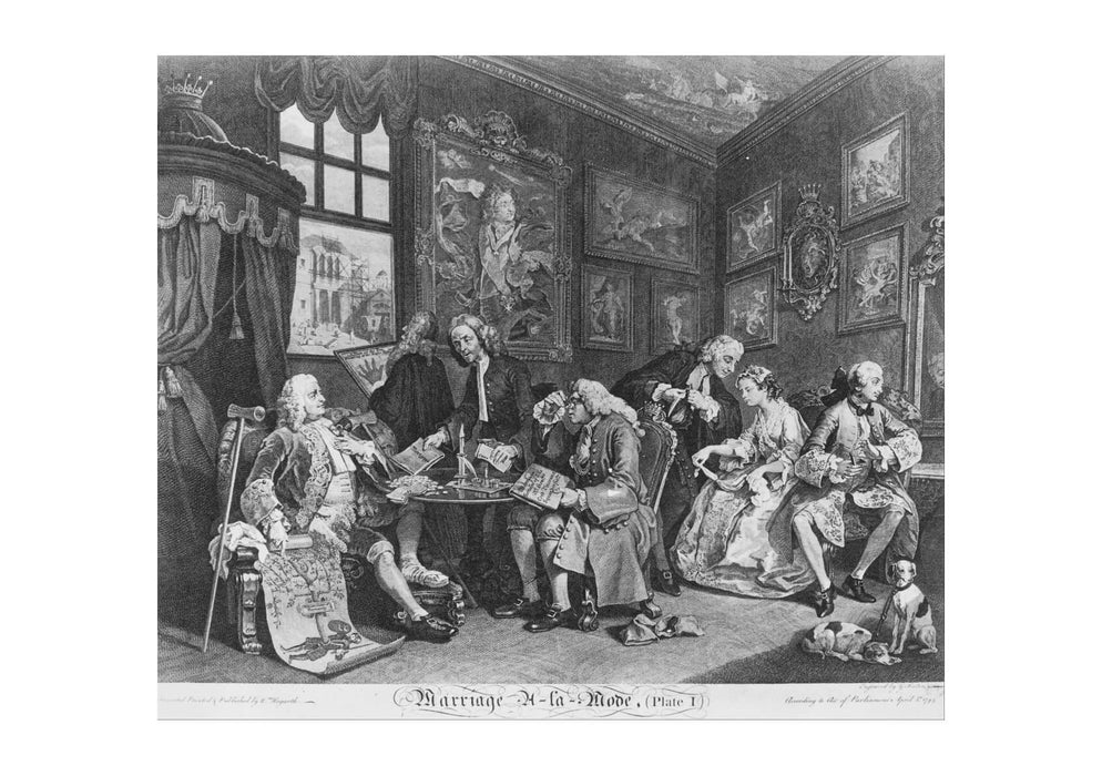 William Hogarth - The Marriage Contract