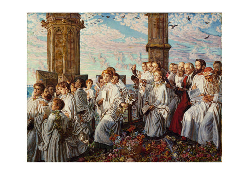 William Holman Hunt - May Morning on Magdalen College