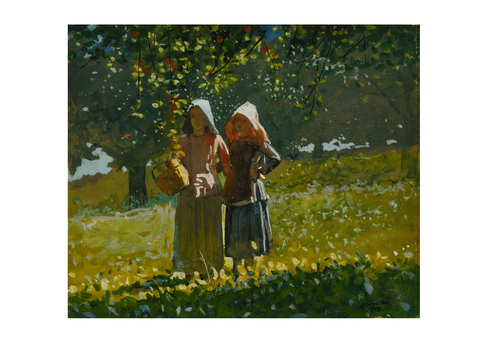 Winslow Homer - Apple Picking