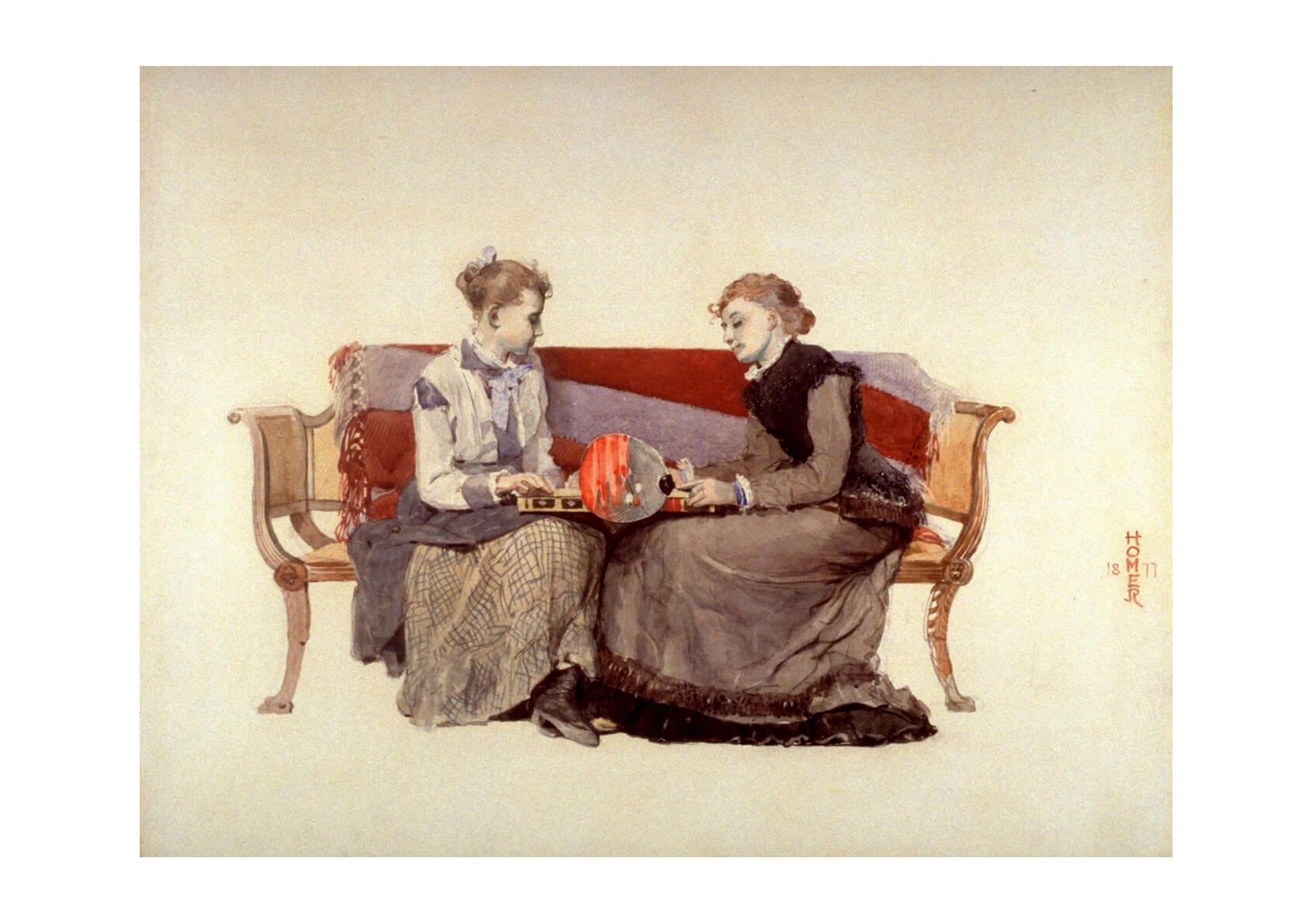 Winslow Homer - Backgammon (1877)