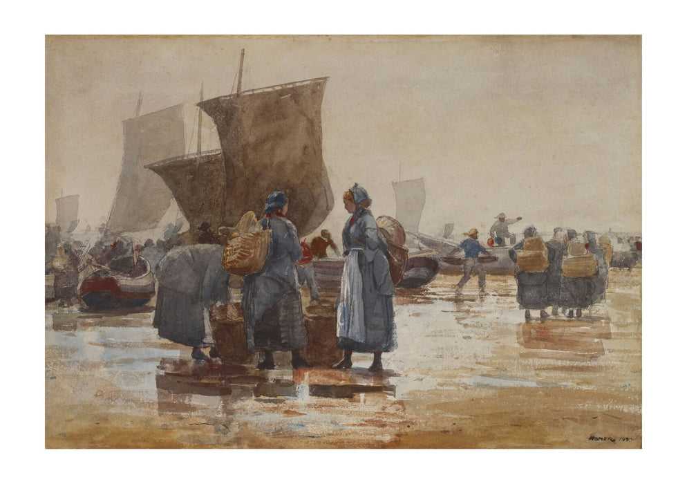Winslow Homer - Fisherfolk on the Beach at Cullercoats