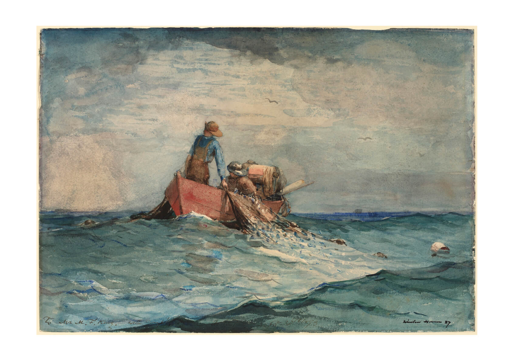 Winslow Homer - Hauling in the Nets