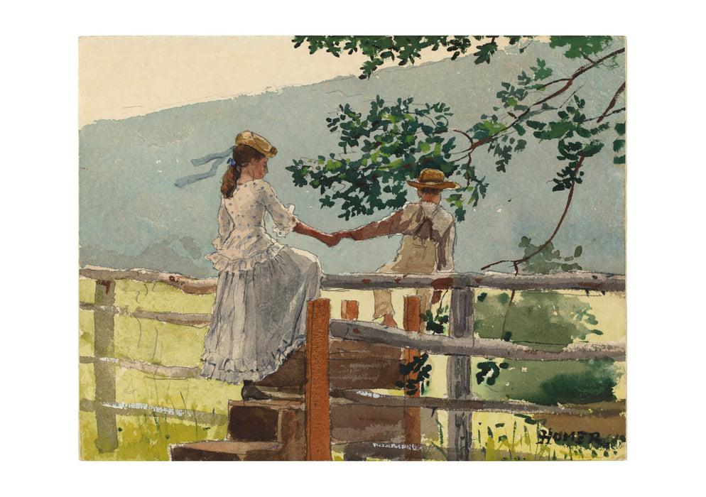 Winslow Homer - On the Stile