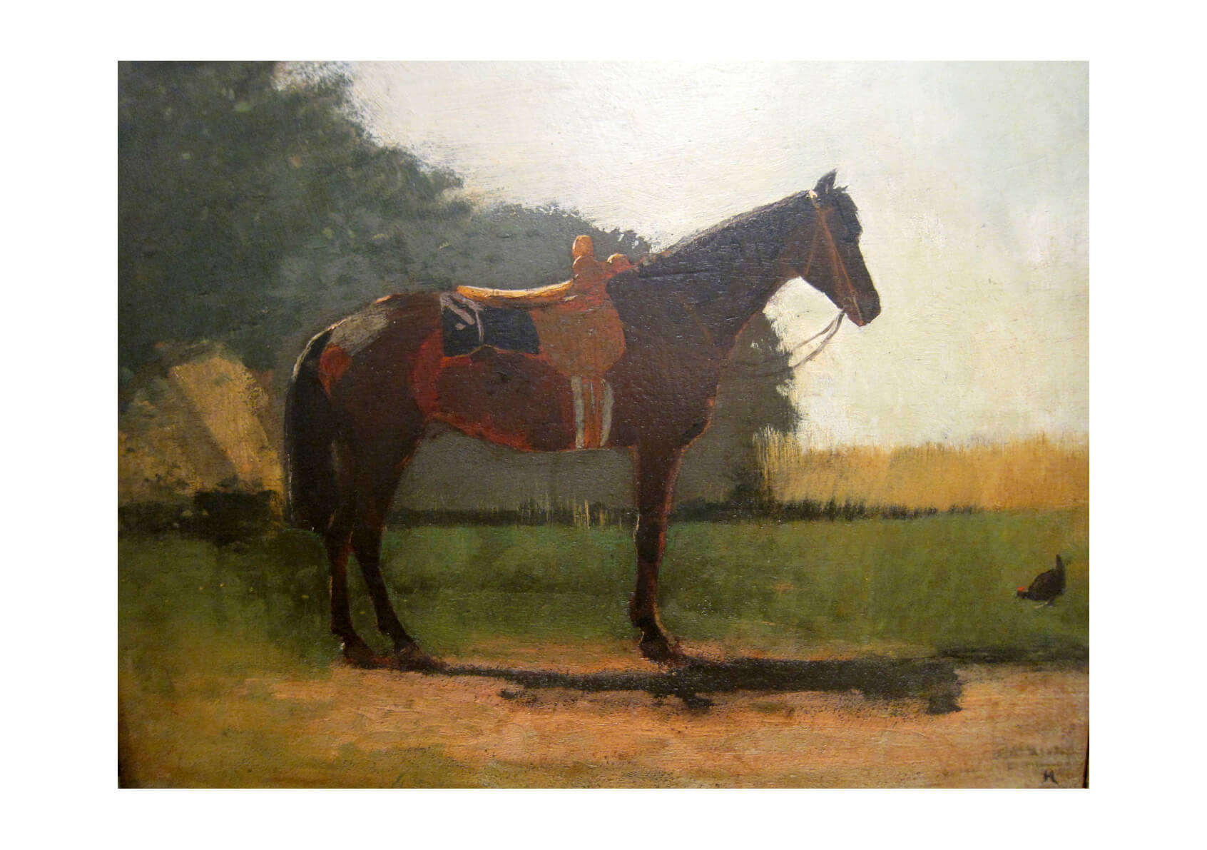 Winslow Homer - Saddle Horse in Farm Yard