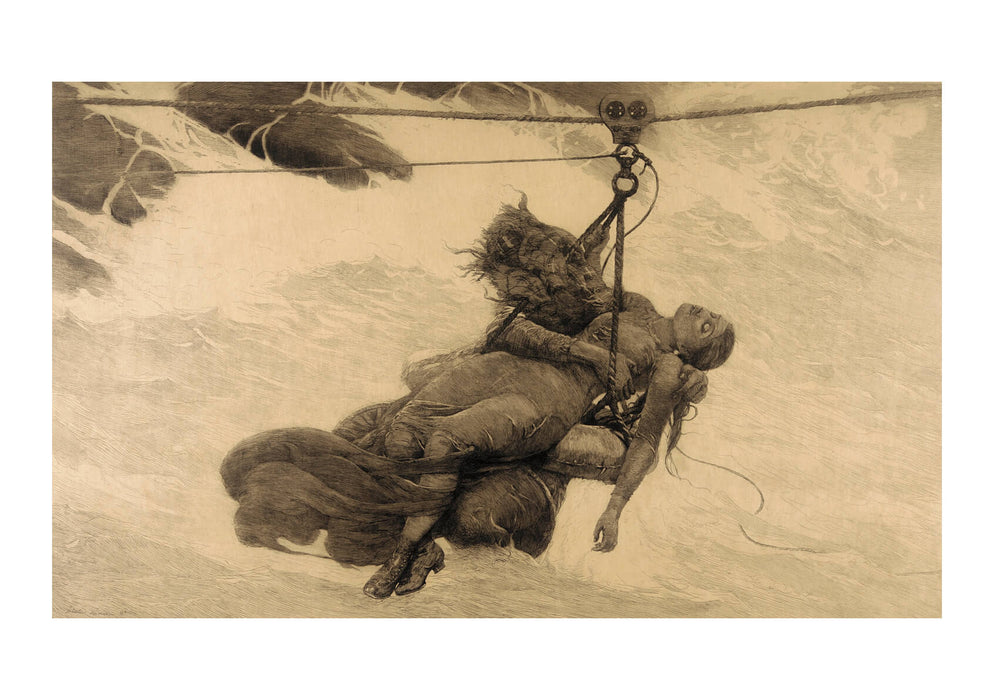 Winslow Homer - Saved (etching)