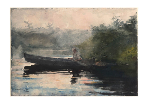 Winslow Homer - The End of the Day Adirondacks