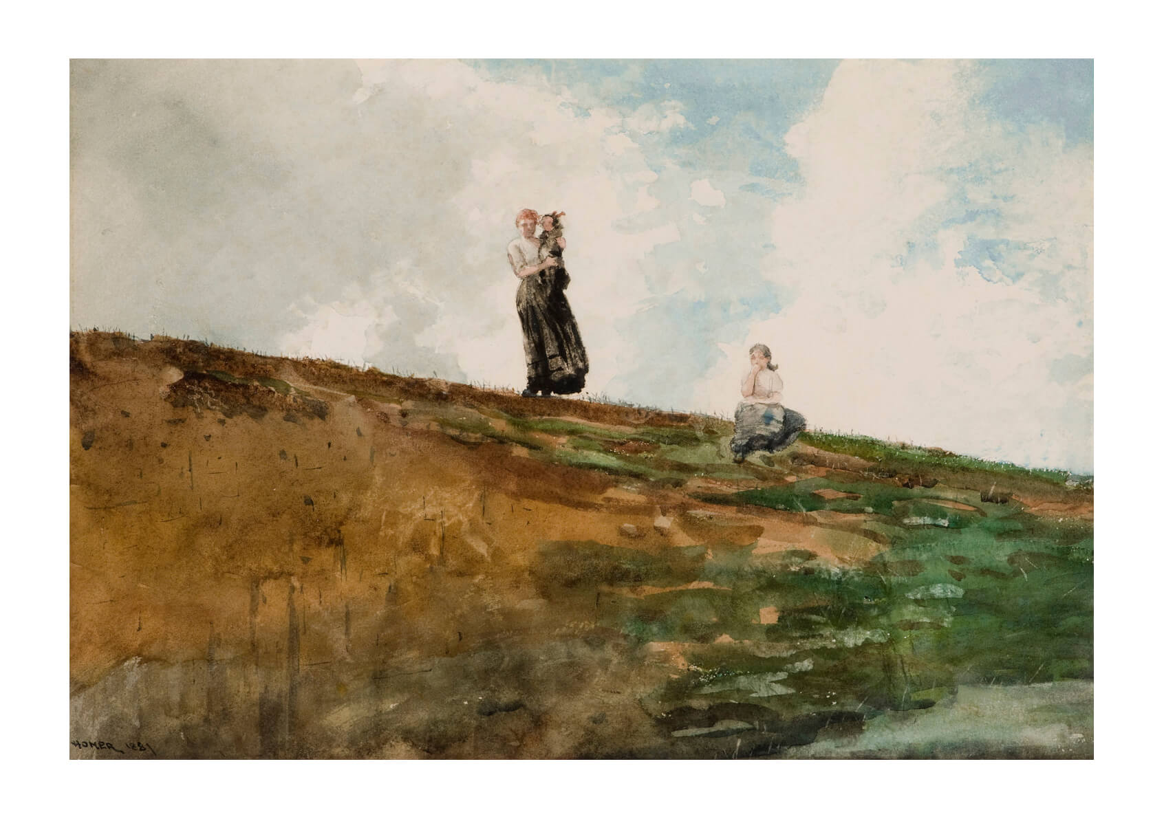 Winslow Homer - Watching from the Cliffs