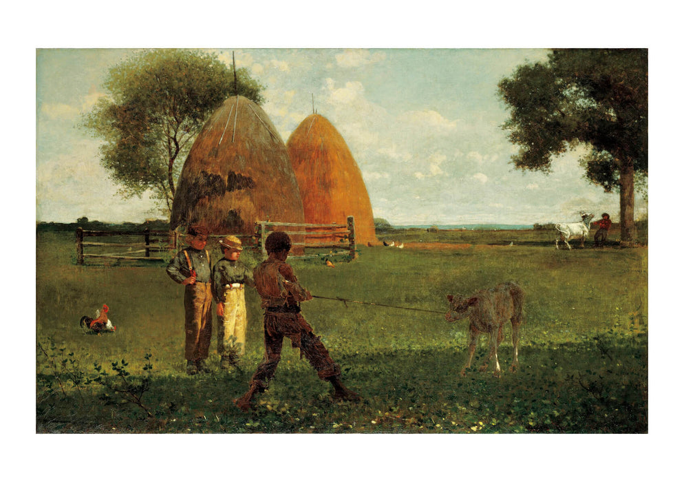 Winslow Homer - Weaning the Calf (1875)