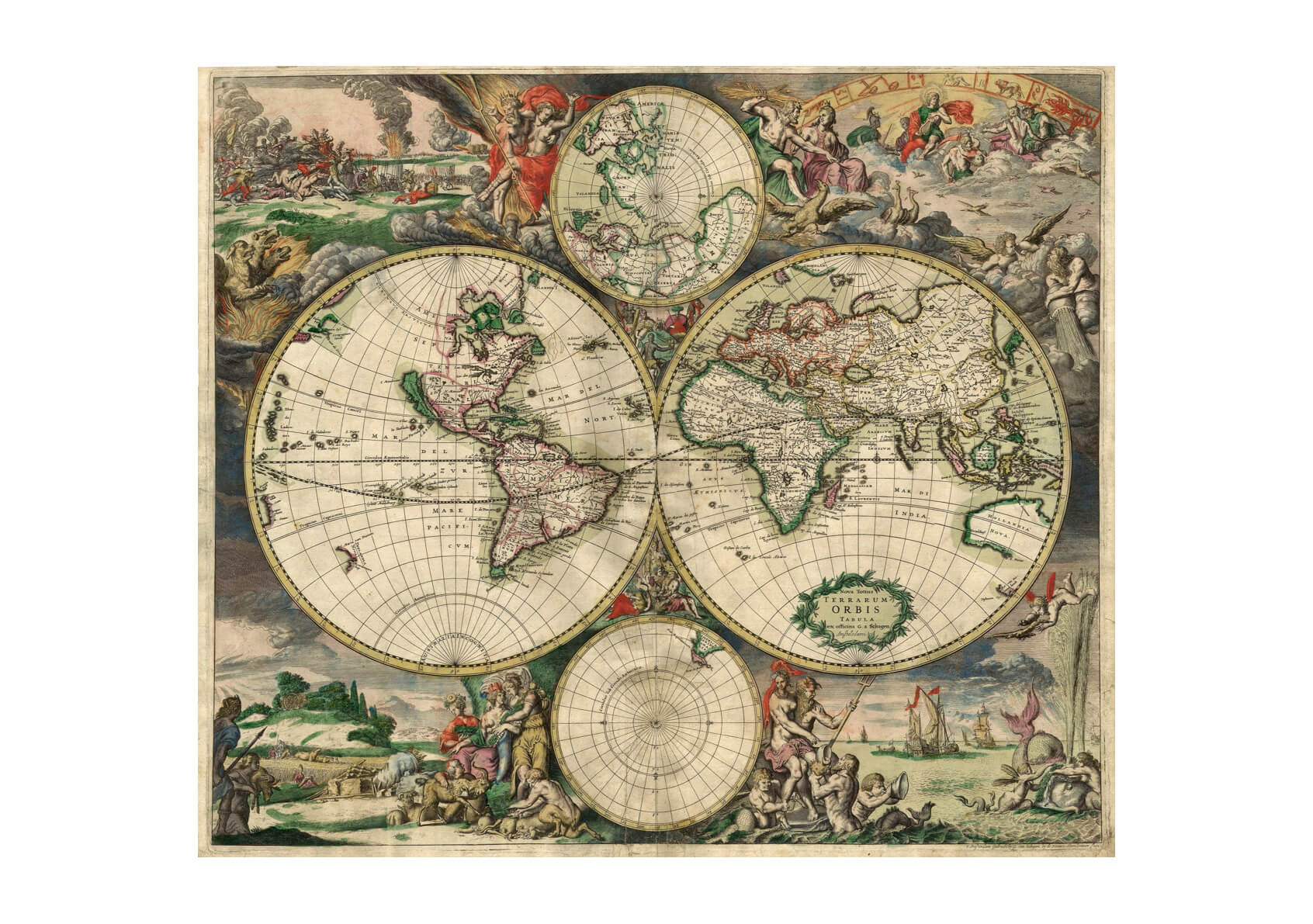 World Map 1689