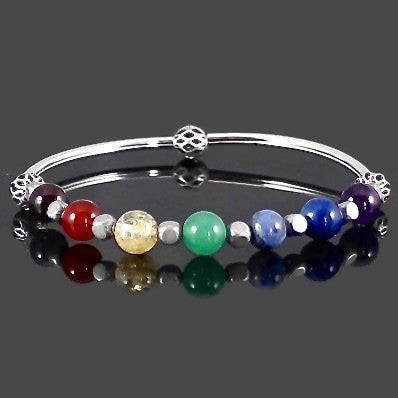 Women's 7 Chakra Stretch Bangle Bracelet