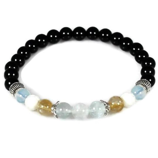 Women's Aquamarine, Citrine and Opalite Abundance Bracelet