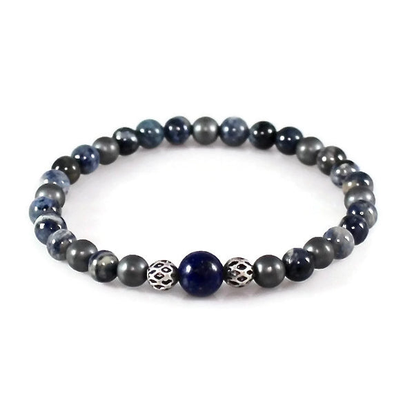 Yoga Bracelet with a Lapis Lazuli Focal Bead