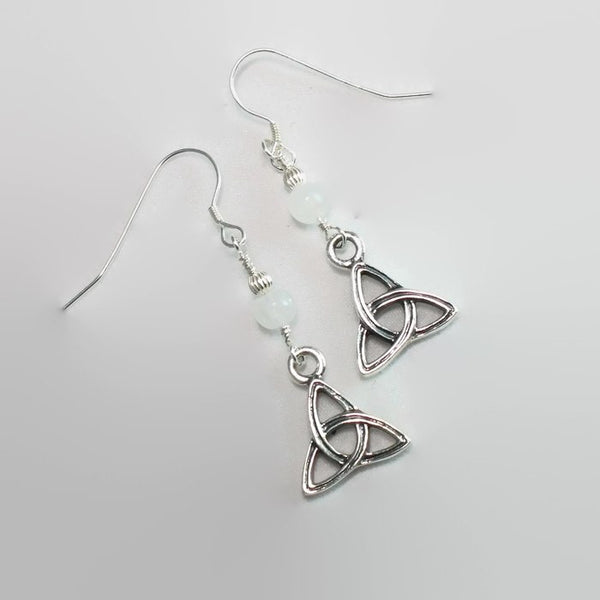 Celtic Triangle Triquetra Knot Earrings