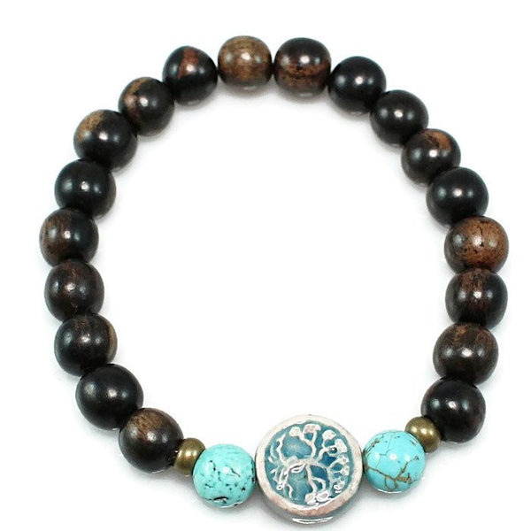 Tree of Life Tiger Ebony Stretch Bracelet
