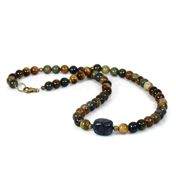 Men's Beaded Healing Energy Intention Choker Necklace