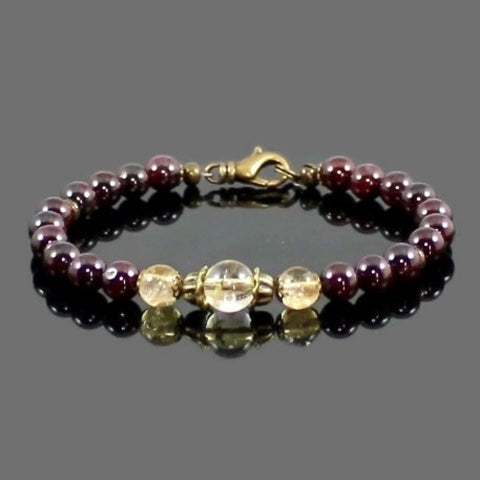 Women's Garnet and Citrine Love and Abundance Bracelet