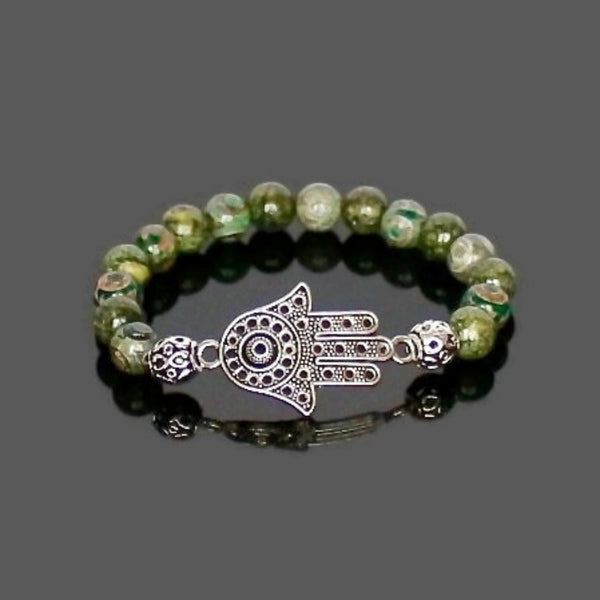 Hamsa Hand Protection Bracelet - Lari's Jewelry Designs