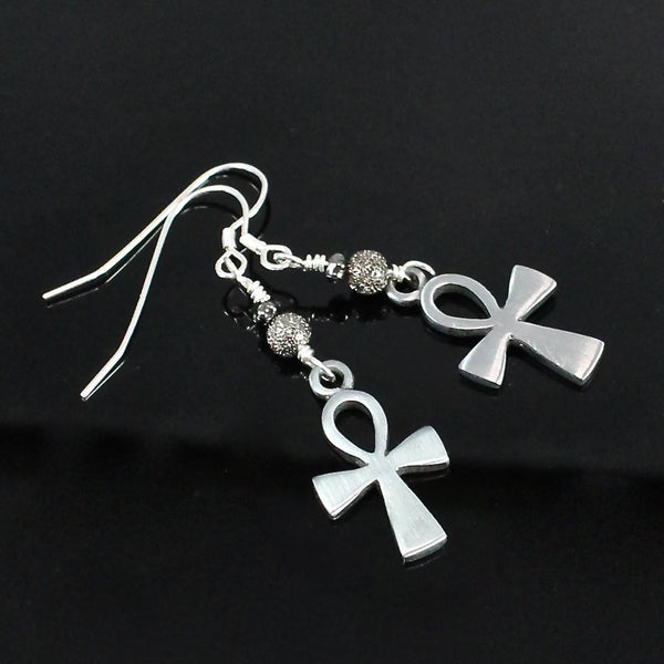 Egyptian Ankh Cross Earrings