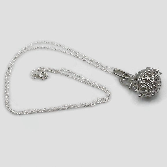 Essential Oils Diffuser Infinity Symbol Pendant Necklace with Sterling Silver Chain