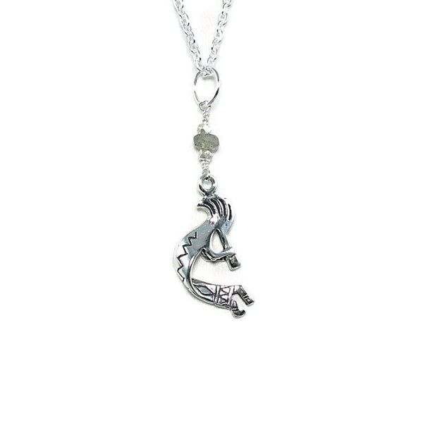 Sterling Silver Kokopelli Talisman Pendant Necklace