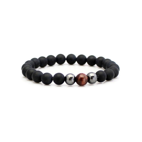 Red Tiger Eye and Onyx Yoga Bracelet | Lari's Jewelry Designs
