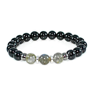 Labradorite and Onyx Protection Bracelet