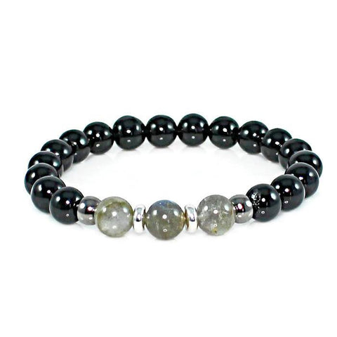 Labradorite and Onyx Protection Bracelet Bracelet - Lari's Jewelry Designs