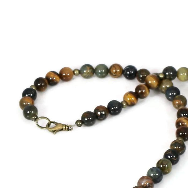 Men's Healing Crystals Intention Necklace Choker - Lari's Jewelry Designs
