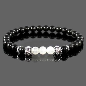 Women's Moonstone and Rainbow Obsidian Yoga Abundance Bracelet