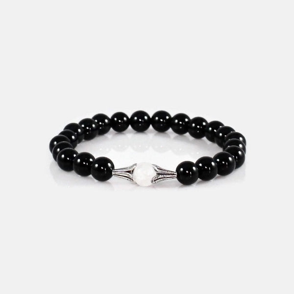Quartz Crystal and Black Obsidian Protection Bracelet