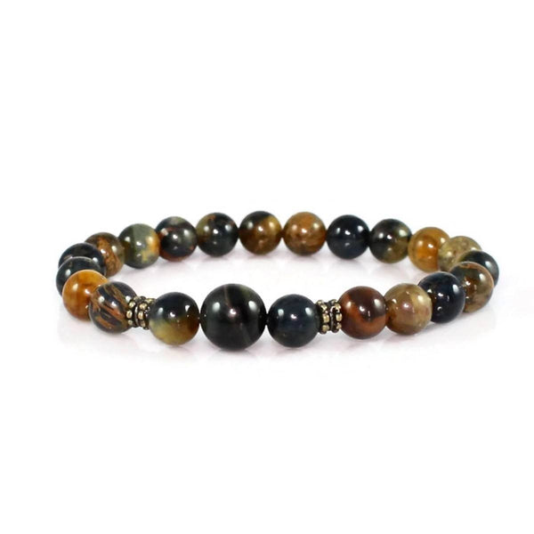 Tiger Eye and Pietersite Yoga Bracelet
